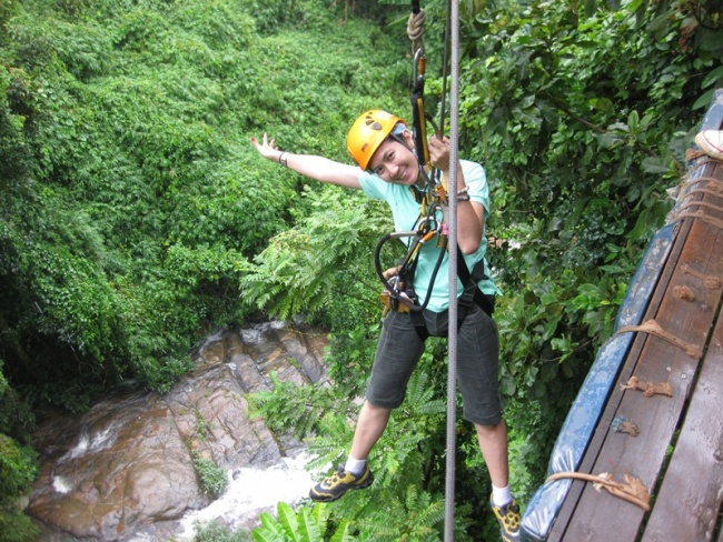 Private Elephant Training Program with adventure Zipline and White Water Rafting