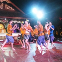 Coconut shell dance for the young people in Northeast of Thailand. www.chiangmaitourcenter.com