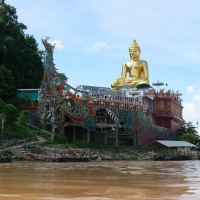 The Huge Lanna Style Buddha Image at the golden Triangle, Chiang Rai.  www.chiangmaitourcenter.com
